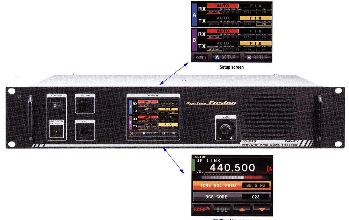 Yaesu DR-2XE Repetidor VHF/UHF Digital/Analogico