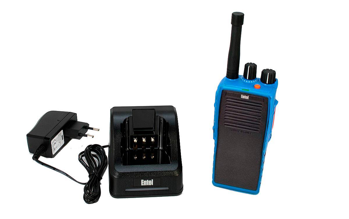 DT-952 ENTEL Walkie Talkie PMR-446 Digital - Analogico sin teclado, sin pantalla, Uso Libre ATEX
