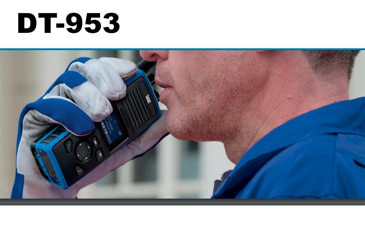 DT-953 ENTEL Walkie Talkie PMR-446 Digital - Analogico Uso Libre ATEX