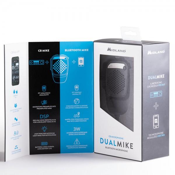 dual mike es el nuevo micrófono cb que debuta online con la conexión bluetooth que permite la conexión a un smartphone.