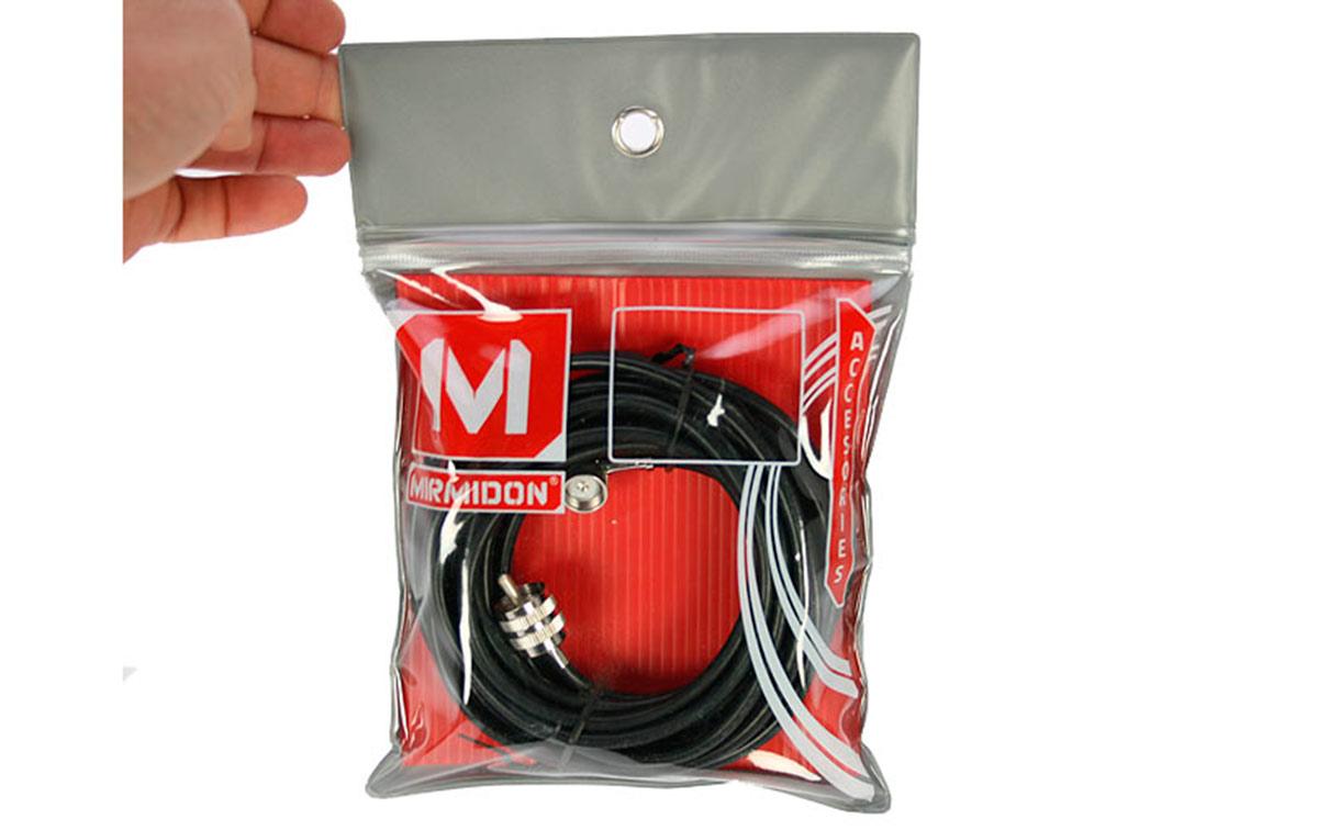 DVM27 conjunto base Palomilla + cable RG58 longitud 5,5 mts + PL macho