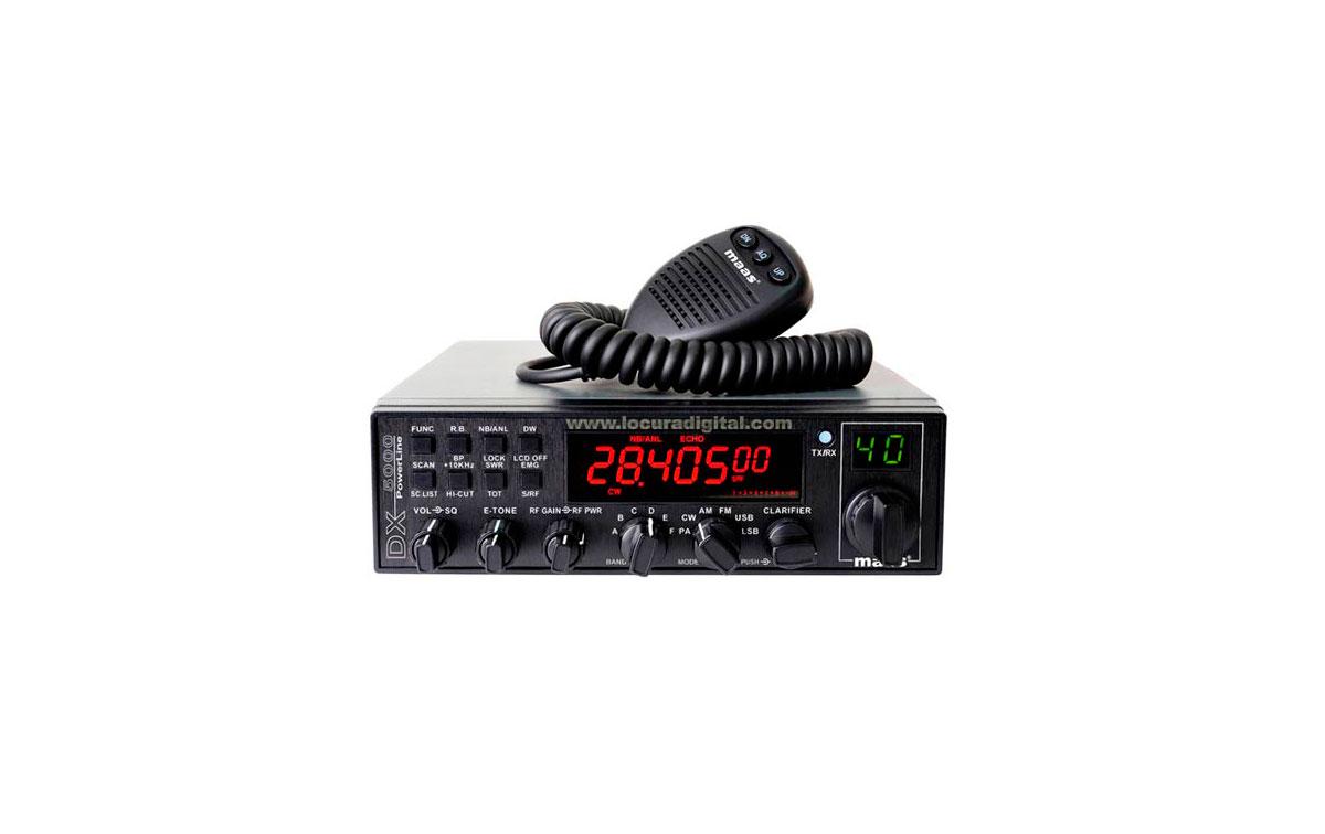 MAAS DX-5000 V5 HF  28-29 MHz  POTENCIA 12 WATIOS AM/ FM. Y BANDAS LATERALES 21 WATIOS   !! NUEVA VE
