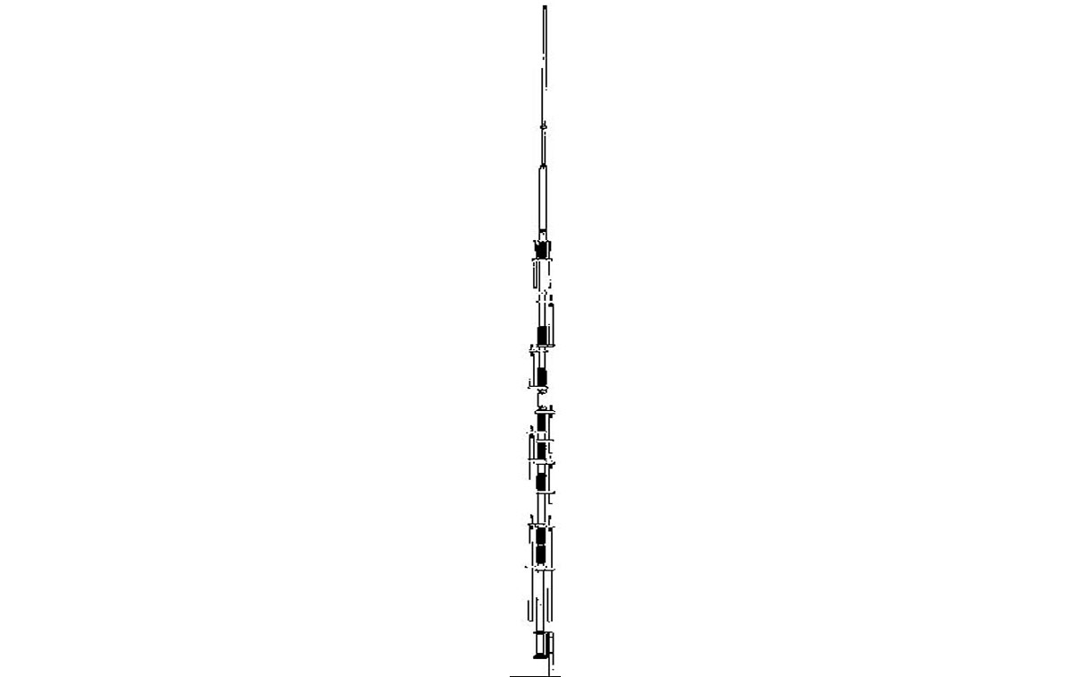 dx-88 hy-gain antena vertical hf banda ancha ajustable 10,12,15,17,20,30,40,80 metros