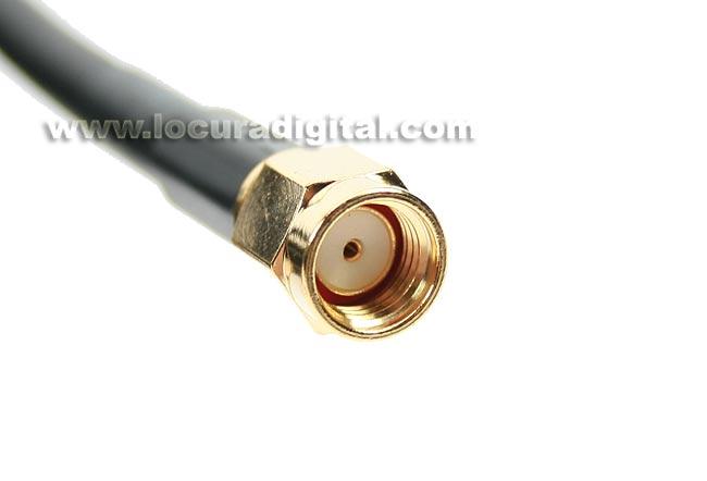 MIRMIDON CAWIF-0711 Cable WI-FI RG58,SMA MACHO REVER-SMA MACHO estandar, 2 mts.