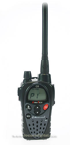 MIDLAND G9E KIT1 free use PMR 446 HANDHELD. NEW MODEL! EARPHONE FOR FREE!