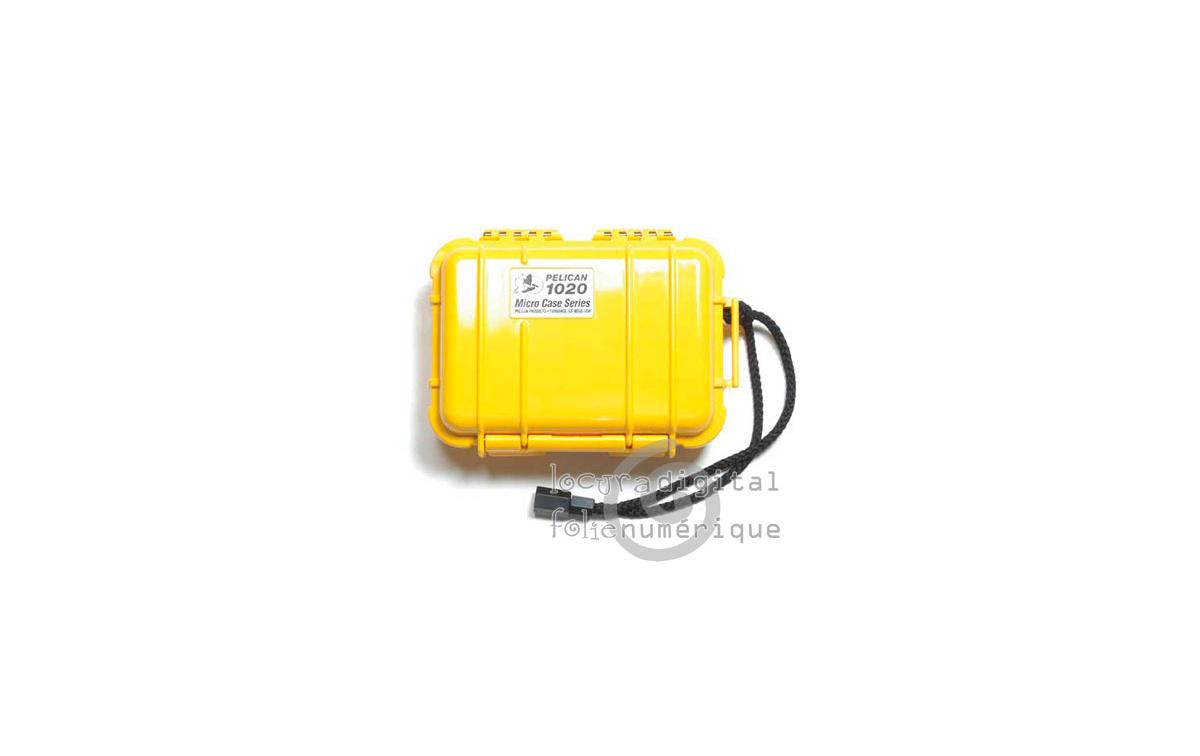 1020-025-240E Micro-Maleta de protección Amarillo - Opaco