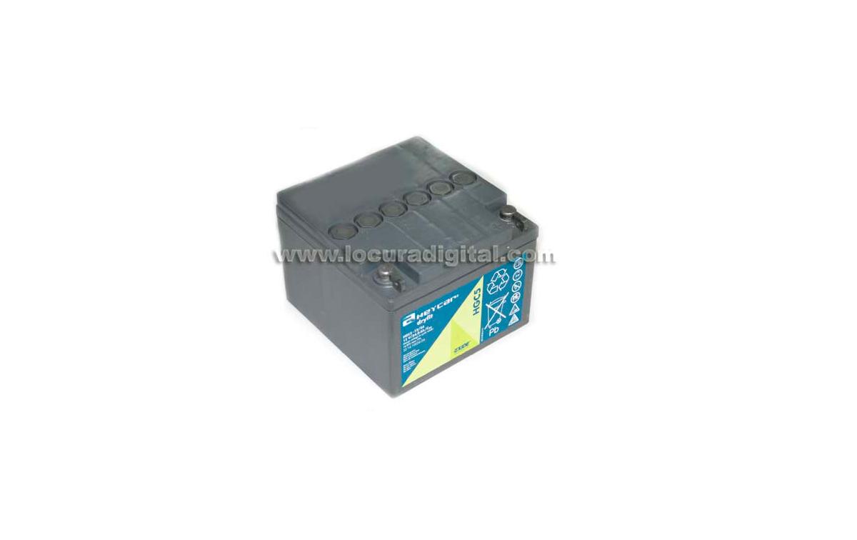 HEYCAR EXIDE TECHNOLOGIES HGC5-12 24 G5 - Batería de plomo GEL 12V - 24 amperios