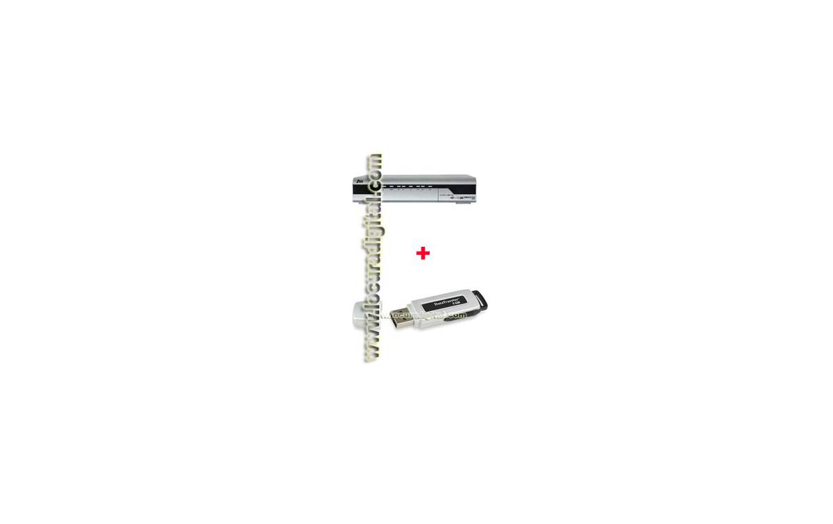 IRIS 9800 FTA USB Receptor Satélite con puerto USB + Pendrive 1 Gb