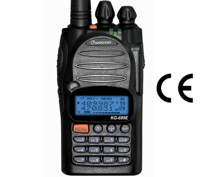 WOUXUN KG 699UHF Handheld UHF 430 Mhz. Output Power 4W. EARPHONE + CIGARETTE-LIGHTER CHARGER + LEATHER CASE!!!