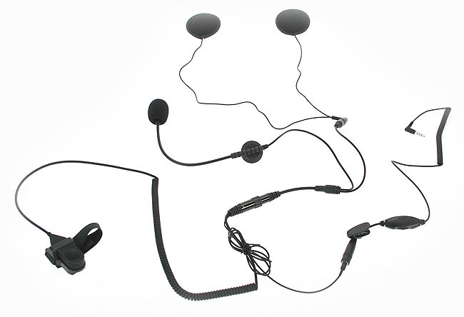 NAUZER KIM66-PHONE. Headset Boom Microphone Kit for use with open helmet. For mobile phone IPHONE, BLACKBERRY, ETC.