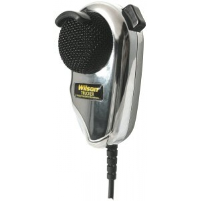 CHROME WILSON microphone with noise filter.