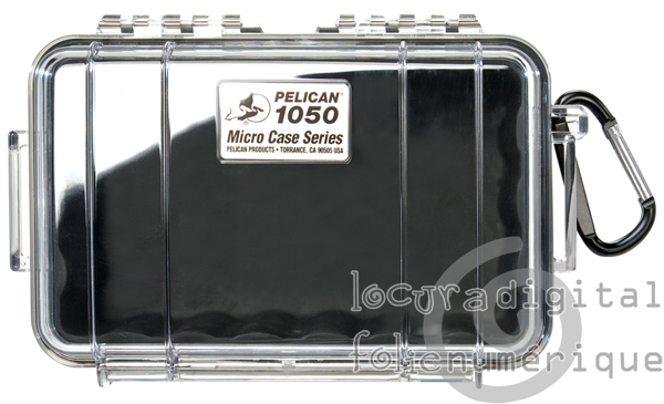 1050-025-100E Micro-Clear Protective Case-Black