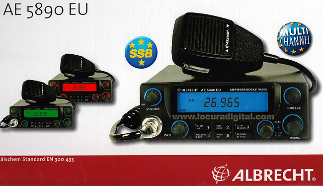 5890EU ALBRECHT AE-CB RADIO 27 MHZ WITH SIDE BANDS! AM / FM / USB / LSB! VALID FOR EUROPE