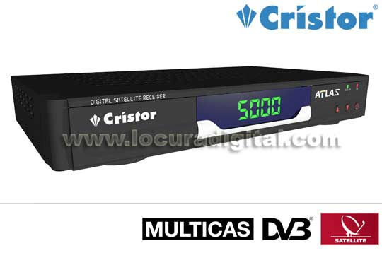 CRISTOR ATLAS Satellite Receiver 2 Multisystem card readers. Al jazeera compatible.
