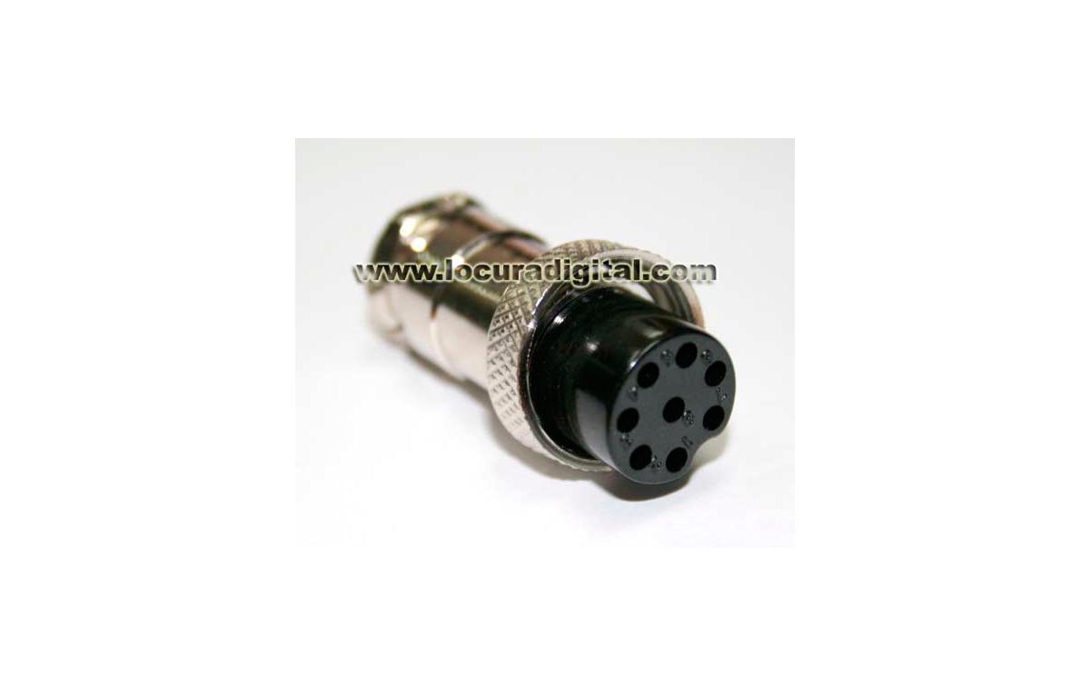 MICRO-8H Conector hembra de 8 pins para microfono