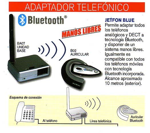 Jetfon bluetooth sin cables inalambrico for Bluetooth adaptador