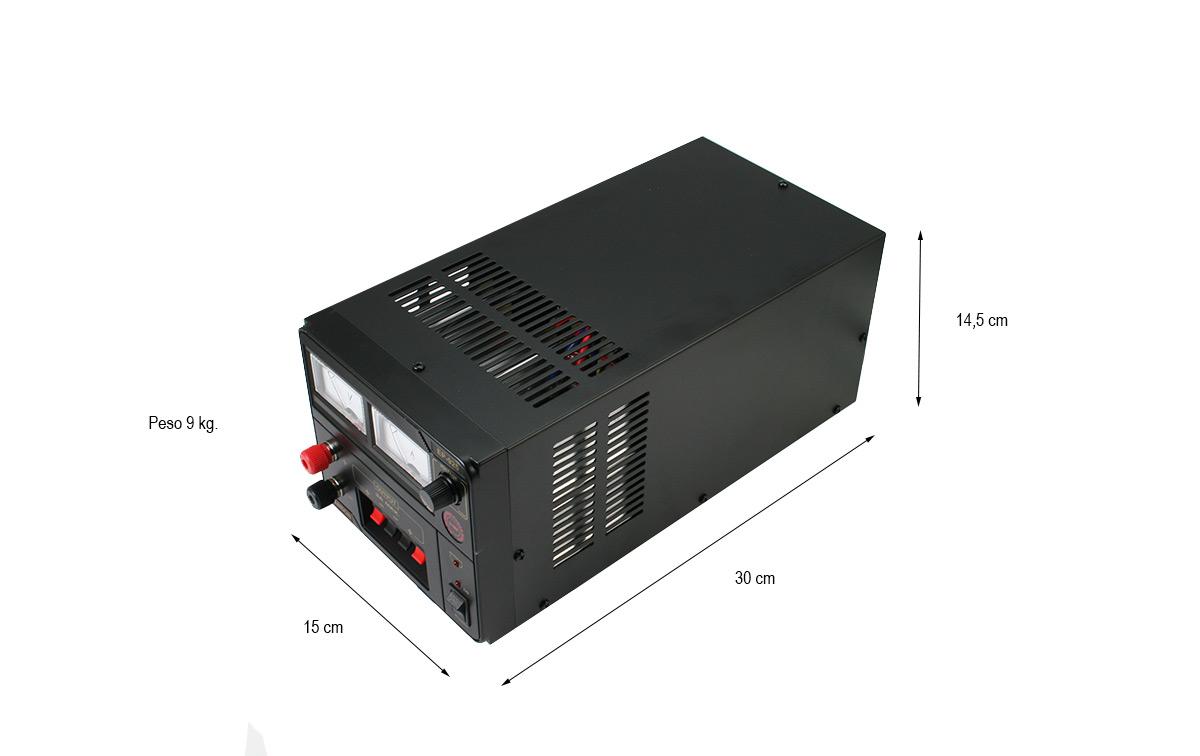 MANSON EP-925 Fuente LINEAL 25 a 30 amperios. Regulable 3 a 15 voltios