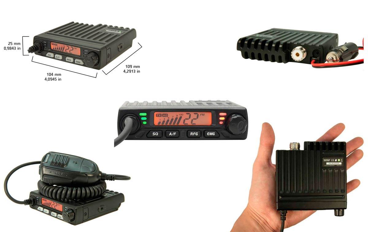 sadelta explorer-27 emisora mini cb 27 mhz canales 40 am/fm + conector de mechero 12 voltios