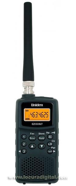 ezi-33-xlt uniden escaner vhf 78 a 174 mhz (incluye banda aérea) y uhf 406 a 512 mhz. 9 bandas, 180 canal