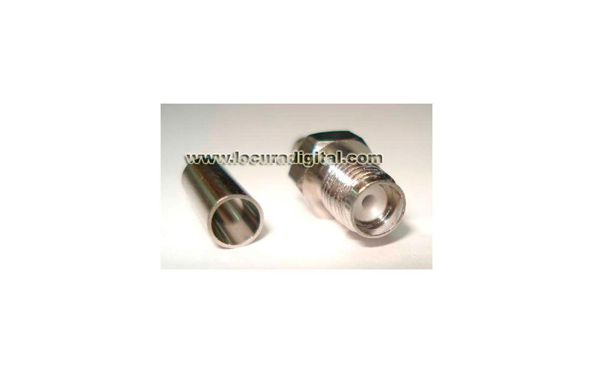 CON1610174 Conector sma Hembra para crimpar en Cable RG-174