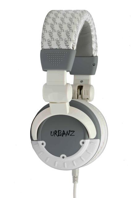 GW URBANZ bloco conector 3,5 mil?tros Stereo Headset. Branco e cinza.