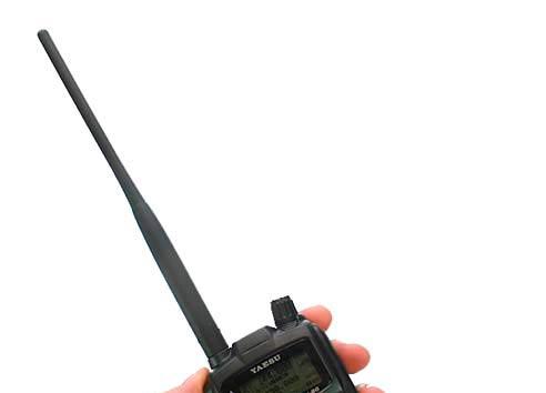 YHA72 YAESU Antena original VHF/UHF para VX-8GE, VX-8GR y FT1D