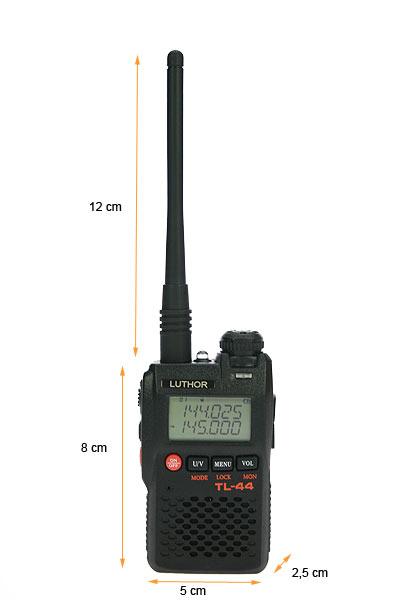 TLA-244 LUTHOR Antena  original bibanda VHF/UHF conector SMA