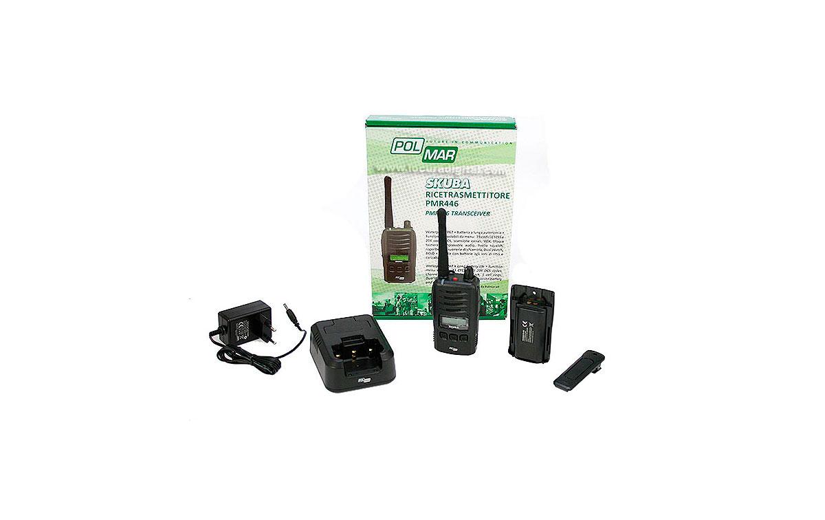 polmar skuba walkie talkie uso libre sin licencia con pantalla pmr-446 ip67 sumergible
