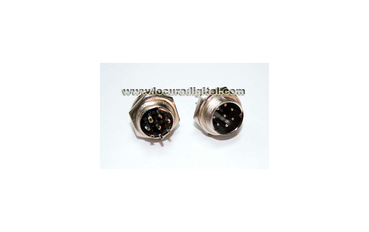 MIC-HA8 Conector macho de 8 pins para micrófono