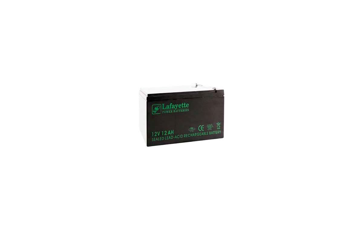 SW 12120 BATERIA DE PLOMO RECARGABLE Lafayette Power VOLTAGE 12 V. Capacidad 12 amperios. Terminal: