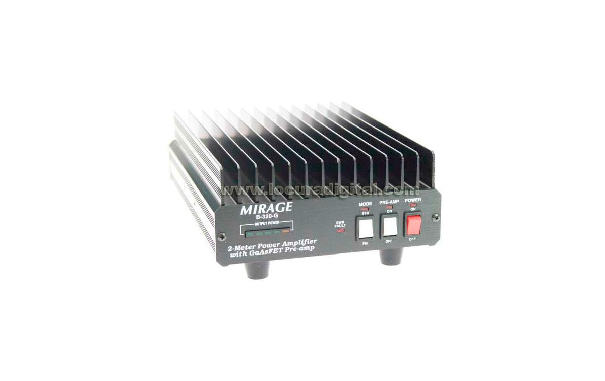 MIRAGEB320G Amplificador MIRAGE VHF. 200 watios FRECUENCIAS 144-146 Mhz