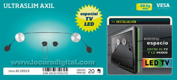 ULTRASSLIM SOPORTE ESPECIAL  PARA PANTALLAS DE LED.