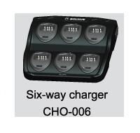 CHO-006 WOUXUN Cargador sobremesa para 6 unidades de walkies WOUXUN