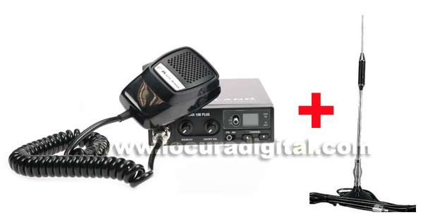 ALAN 100 PLUS CB radio + MIDLAND Antenna 18-244m