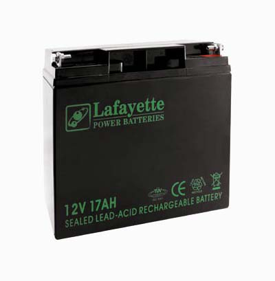 SW-12 170 Lafayette RECHARGEABLE LEAD BATTERY VOLTAGE 12V Power. Capacity 17 amps. Terminal: T3