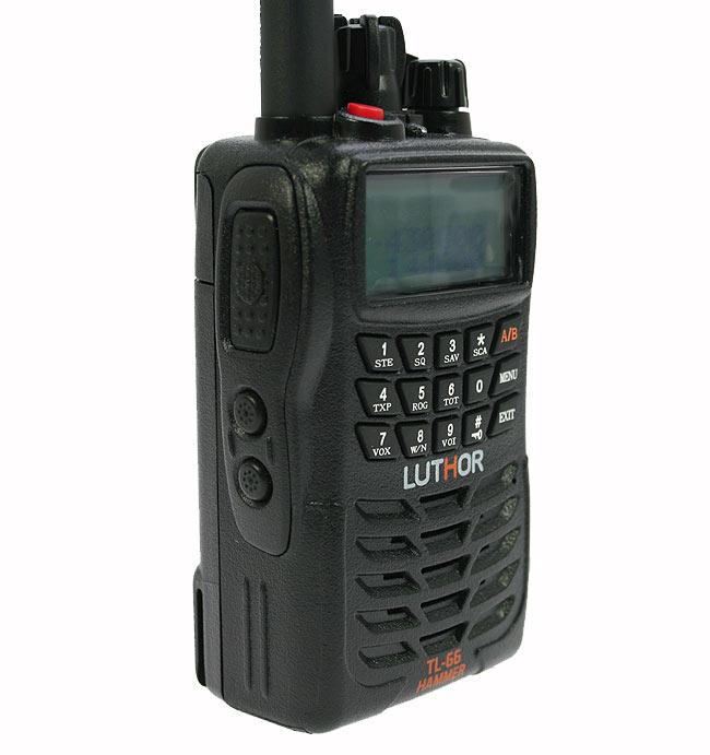 LUTHOR TL-66 HAMMER Walkie doble banda VHF/UHF. IP-65 BATERIA ALTA CAPACIDAD TLB-409