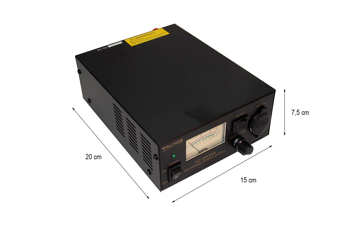 FALKOS FC-SS30A Fuente Alimentación Conmutada conector de mechero, voltaje 13.8 v. / 30-35 amperios.