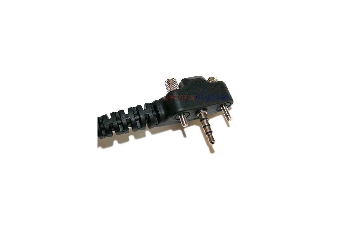 PIN29Y2 Micro Auricular orejera rizado con PTT.