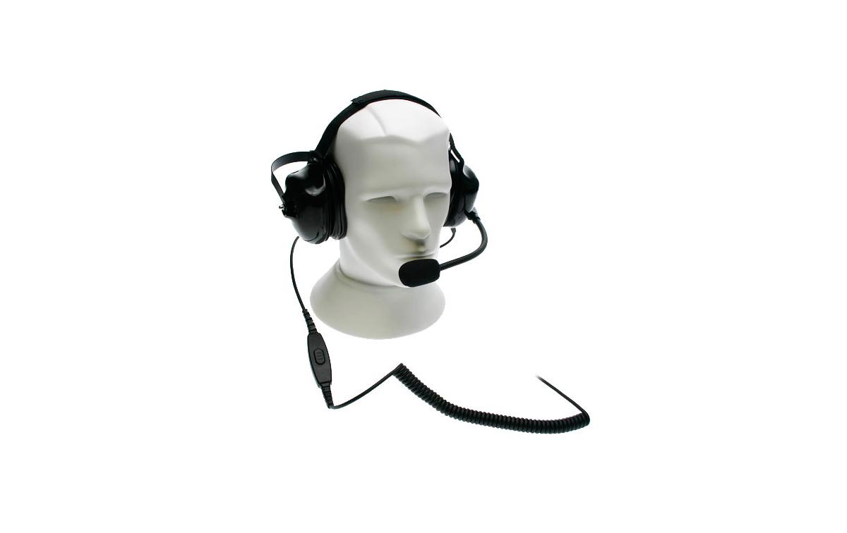 NAUZER HEL880S Micro-Auriculares tipo casco profesional para walkies ALAN, MIDLAND Y COBRA