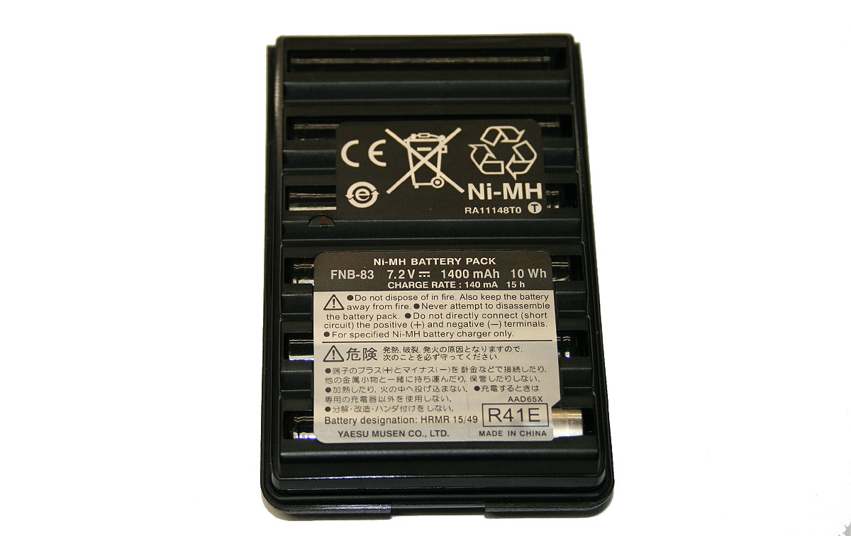 FNB-83 Batería ORIGINAL YAESU Ni-Mh 7,2 V/1400 mAh. para walkie YAESU VX-110/VX-150/FT-60/ VX-120 / VX-170/VX-146/VX-246