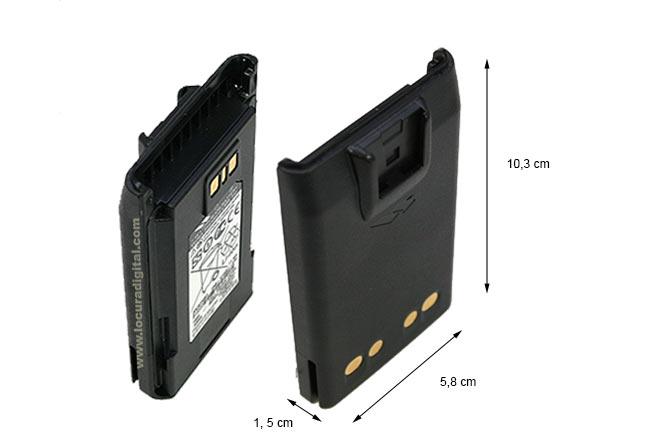 fnbv133li - vertex batería ion litio 7,4v capacidad 1380 mah para vx261 y vx 264