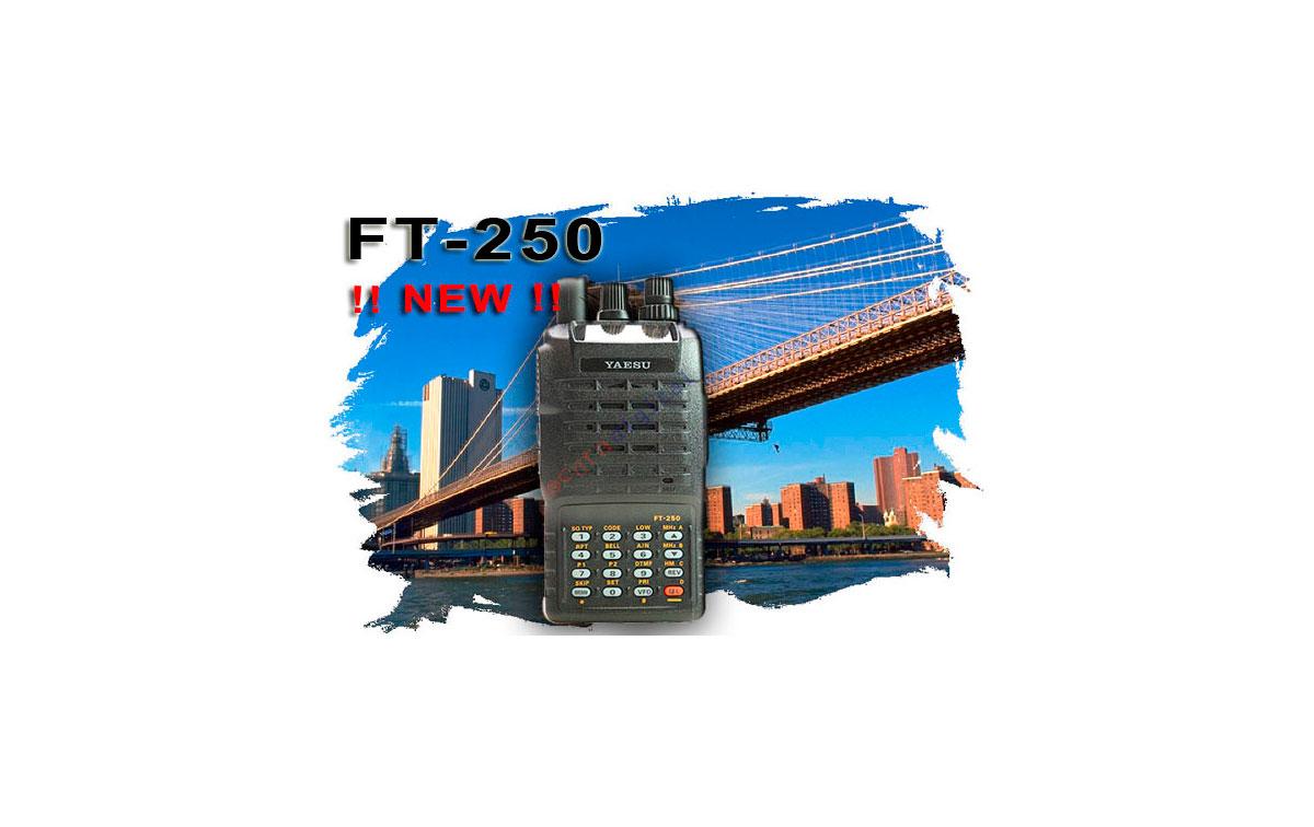YAESU FT 250  E KIT 1. Walkie monobanda VHF 144 mHz con teclado  + CARGADOR RAPIDO + PINGANILLO PIN1