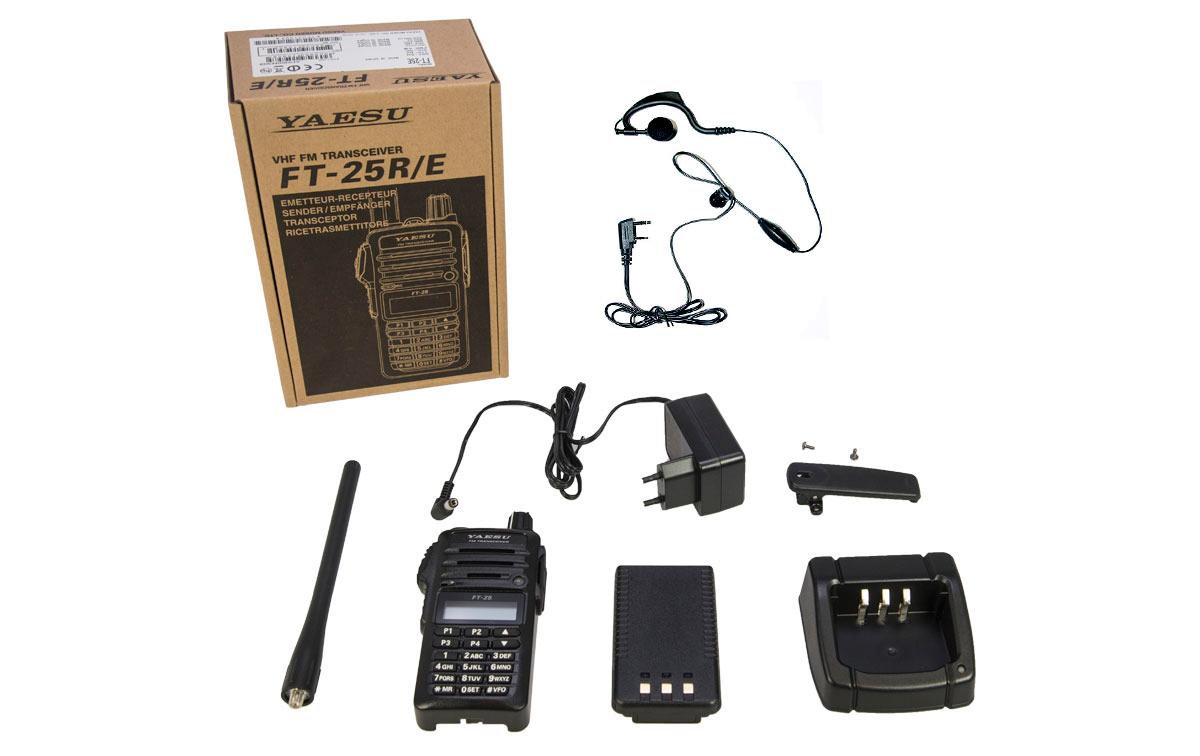 yaesu ft25e walkie talkie vhf 144- 146 mhz potencia 5 w