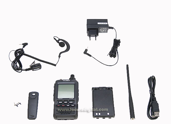 Yaesu FT-2DE Walkie talkie bibanda VHF/UHF Regalo Pinganillo PIN-19Y