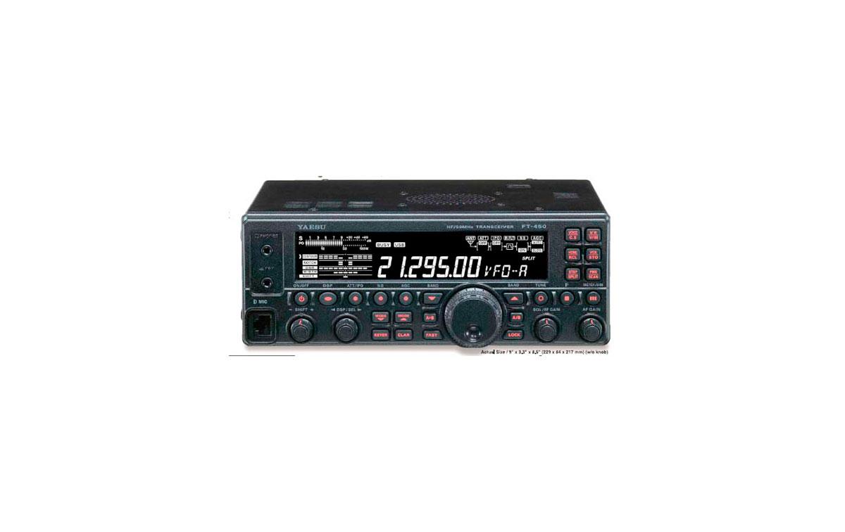 YAESU FT 450 AT Transceptor multibanda HF + 50 Mhz con acoplador automatico incluido ATU-450.