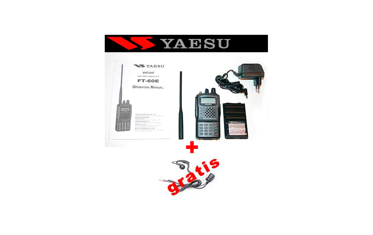 Walkie doble banda VHF/UHF YAESU FT-60E + PINGANILLO DE REGALO
