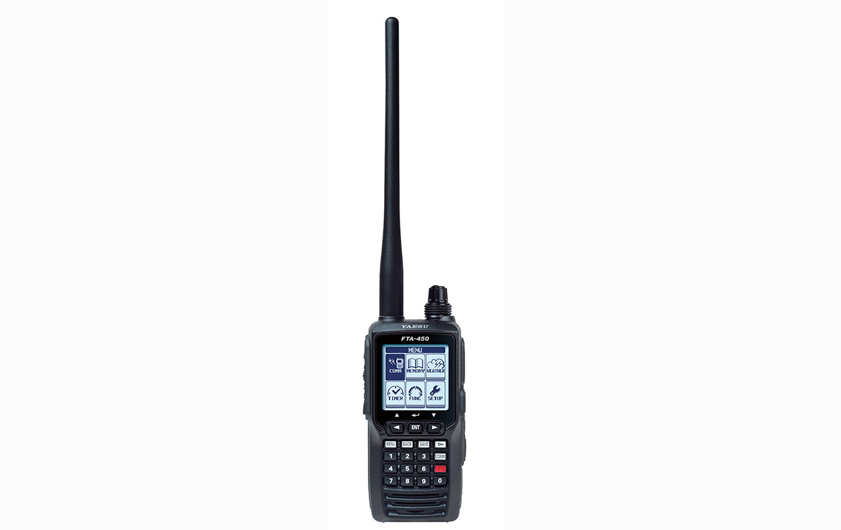 FTA450L YAESU Transceptor Banda Aérea 108-136 Mhz, Sistema de menú fácil de usar