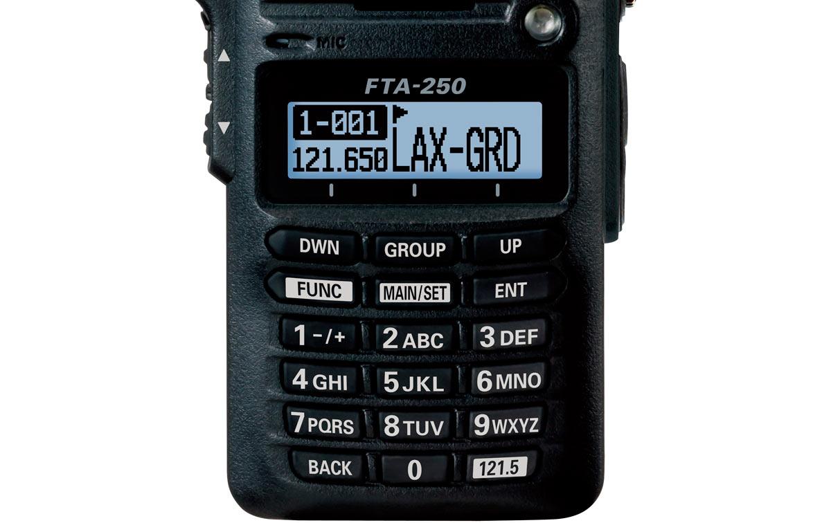 fta250l yaesu transceptor banda aérea 108-136 mhz