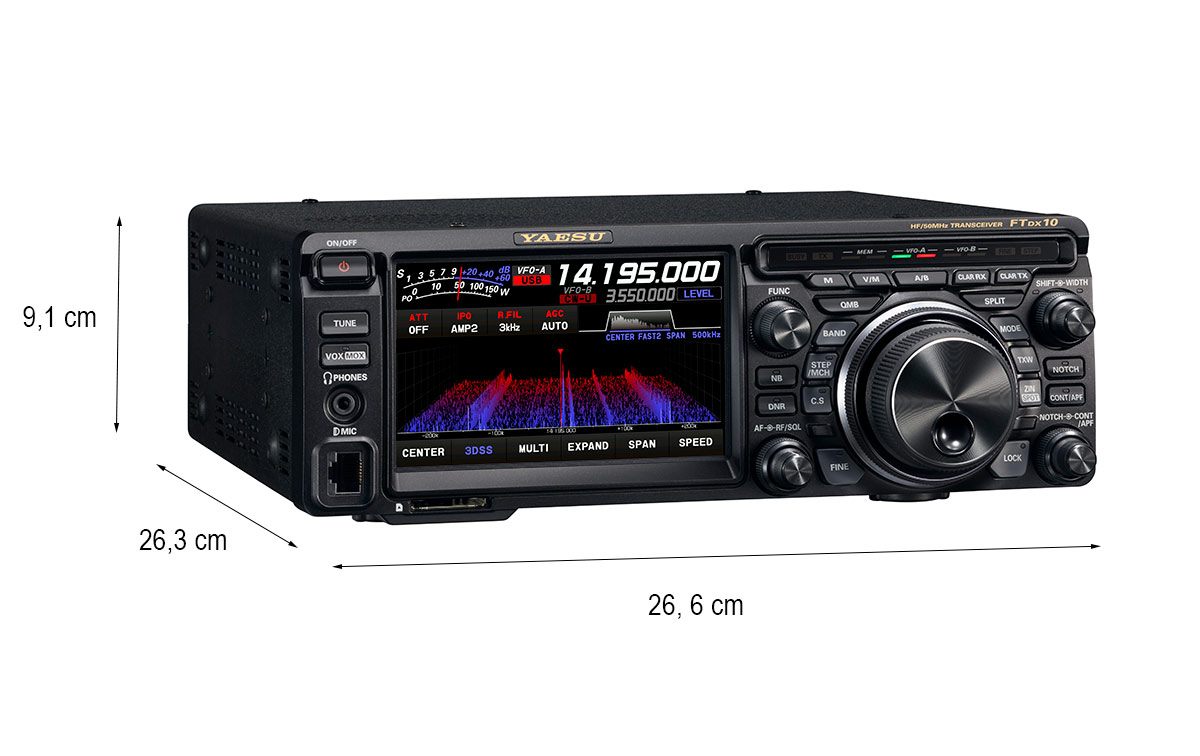 yaesu ft-dx-10 emisora hf 1,8 - 50 mhz potencia 100 watios