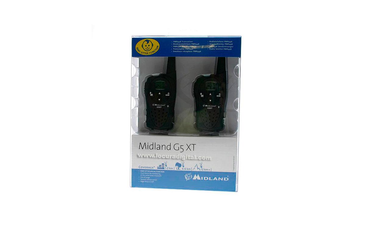 MIDLAND G5XT  PACK  X 2 WALKIES 2 CARGADORES  Walkies de uso libre EL NACIMIENTO DE UNA NUEVA GAMA p